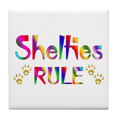 Sheltie Tile Coaster