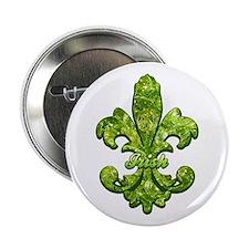 "Irish Gem Fleur de lis 2.25"" Button"