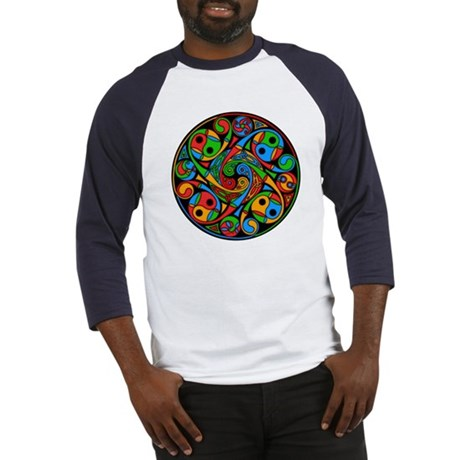 Celtic Stained Glass Spiral Baseball Jersey