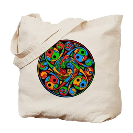 Celtic Stained Glass Spiral Tote Bag