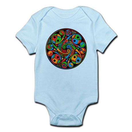 Celtic Stained Glass Spiral Infant Bodysuit