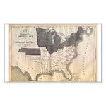 1861 Map Rectangle Sticker 50 pk)