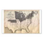 1861 Map Rectangle Sticker 10 pk)