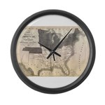 1861 Map Large Wall Clock