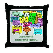 Yard Sales Throw Pillow