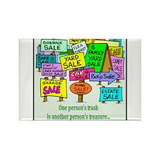 Yard Sales Rectangle Magnet