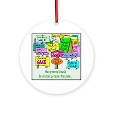 Yard Sales Ornament (Round)