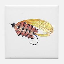 Golden Butterfly Tile Coaster