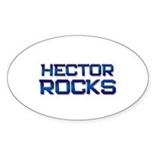 hector rocks Oval Decal