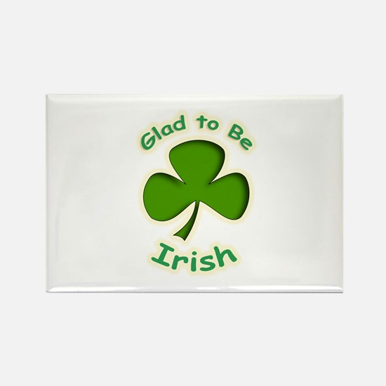 Glad to Be Irish Rectangle Magnet