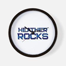 heather rocks Wall Clock