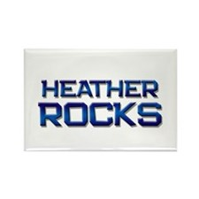 heather rocks Rectangle Magnet