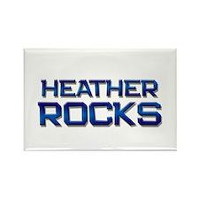heather rocks Rectangle Magnet