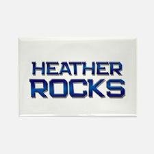 heather rocks Rectangle Magnet (10 pack)