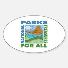 National Parks Oval Decal