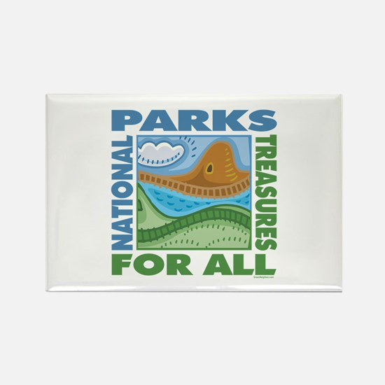 National Parks Rectangle Magnet