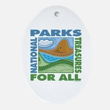 National Parks Oval Ornament