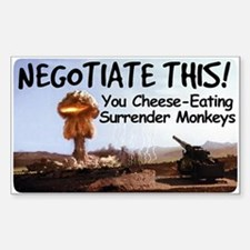 NEGOTIATE THIS! Rectangle Decal