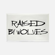 Raised By Wolves Rectangle Magnet