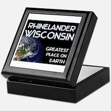 rhinelander wisconsin - greatest place on earth Ke