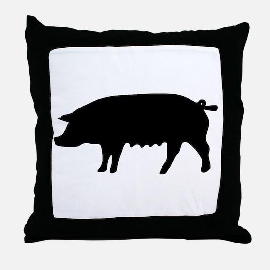 pig fluke Throw Pillow