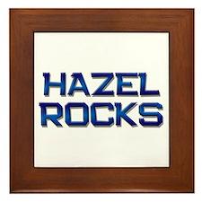 hazel rocks Framed Tile