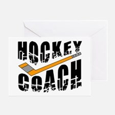 Hockey Coach Greeting Card