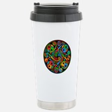 Celtic Stained Glass Spiral Travel Mug