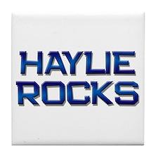 haylie rocks Tile Coaster