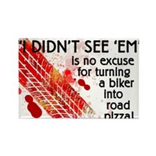 """3"""" X 5"""" Road Pizza Rectangle Magnet"""
