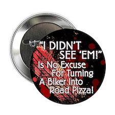 """2.25"""" Road Pizza 2.25 Black Button"""