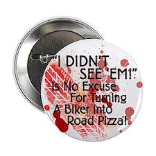 """2.25"""" Road Pizza White Button"""
