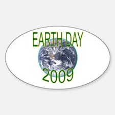 Earth Day 2009 Oval Decal
