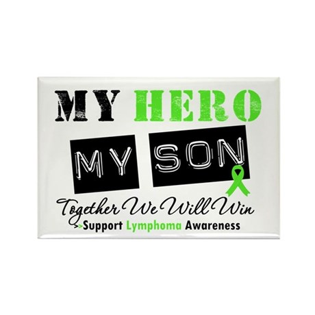 Lymphoma Hero Son-in-Law Rectangle Magnet (10 pack