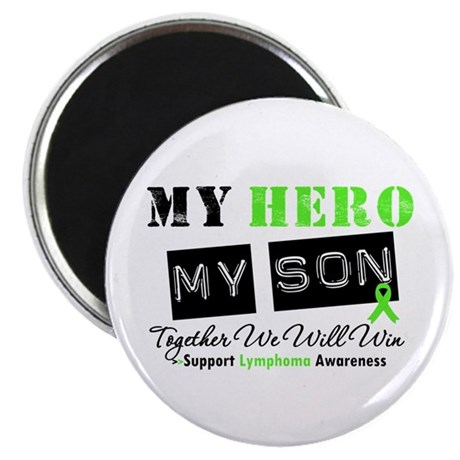"""Lymphoma Hero Son-in-Law 2.25"""" Magnet (100 pack)"""
