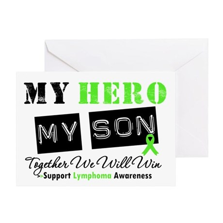 Lymphoma Hero Son-in-Law Greeting Card