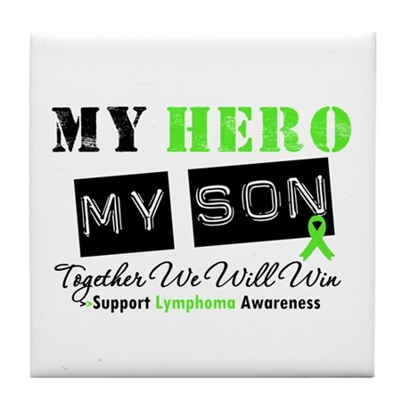 Lymphoma Hero Son-in-Law Tile Coaster