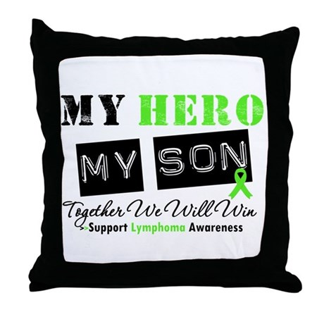 Lymphoma Hero Son-in-Law Throw Pillow