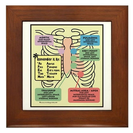 Remember Cardiac Landmarks Framed Tile