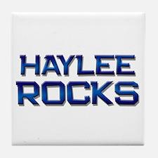 haylee rocks Tile Coaster