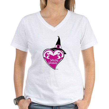 Witchy Woman V-Neck T-Shirt