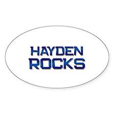 hayden rocks Oval Decal