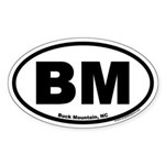 Buck Mountain BM Euro Oval Sticker