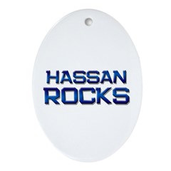hassan rocks Oval Ornament