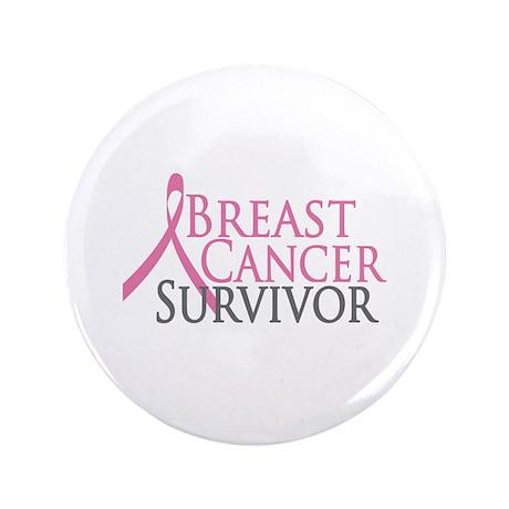 """Breast Cancer Survivor (2009) 3.5"""" Button (100 pac"""