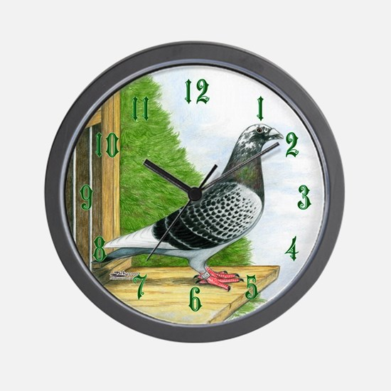 Racing Pigeon Wall Clock