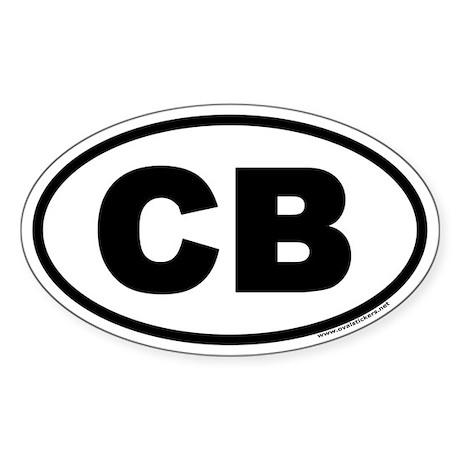 Cocoa Beach Florida CB Euro Oval Sticker