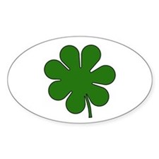 Seven Leaf Clover Oval Decal