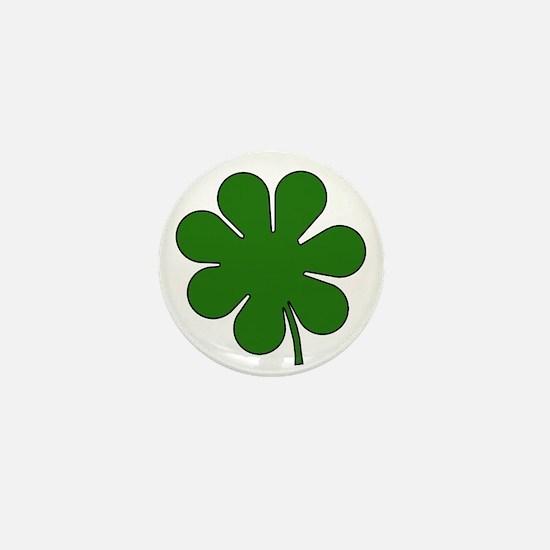 Seven Leaf Clover Mini Button
