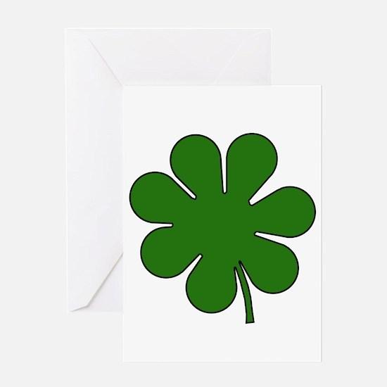 Seven Leaf Clover Greeting Card